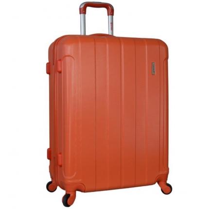 Cestovní kufr CITIES T-525/3-65 ABS - oranžová - 2. jakost