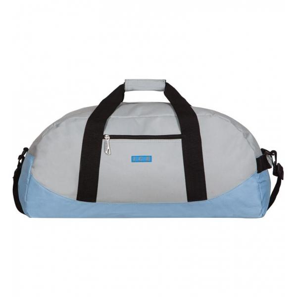 Cestovní taška ICE 7560 - světle šedá/modrá - 2. jakost