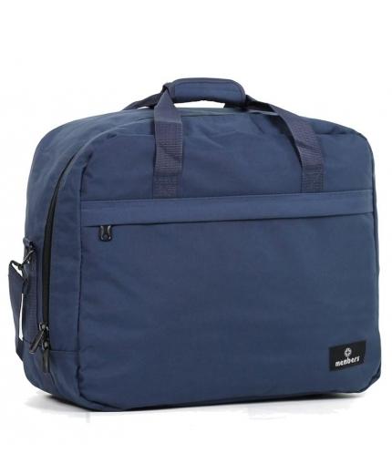 Cestovní taška MEMBER'S SB-0036 - modrá - 2. jakost